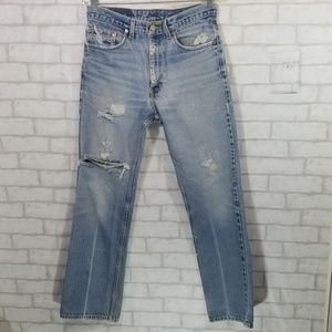 Levi's 517 destroyed distressed jeans W32×L34
